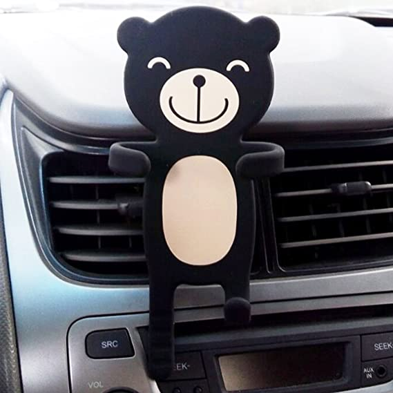 Black-1 New Mobile Phone car Stand car Navigation Cartoon Silicone Antiskid Lazy Mobile Phone Stand Mobile Phone air Outlet Bracket