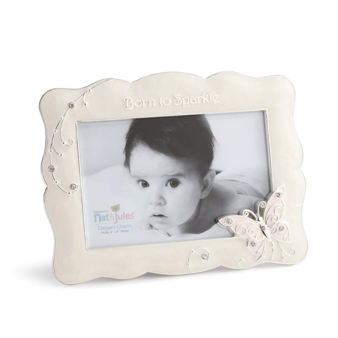 DEMDACO Butterfly Photo Frame, Born To Sparkle, 4''x6''