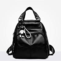 XBLLM Lady Backpack- Mini Shoulders Bag, Multifunction Daypack Satchel Crossbody Bag for Girls Lady (Color : A)