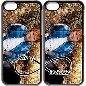 JiHuaiGu (TM) iPhone 5C funda Negro BFF mejores amigos-Ed Sheeran personalizado temático iPhone 5C funda OJ3984