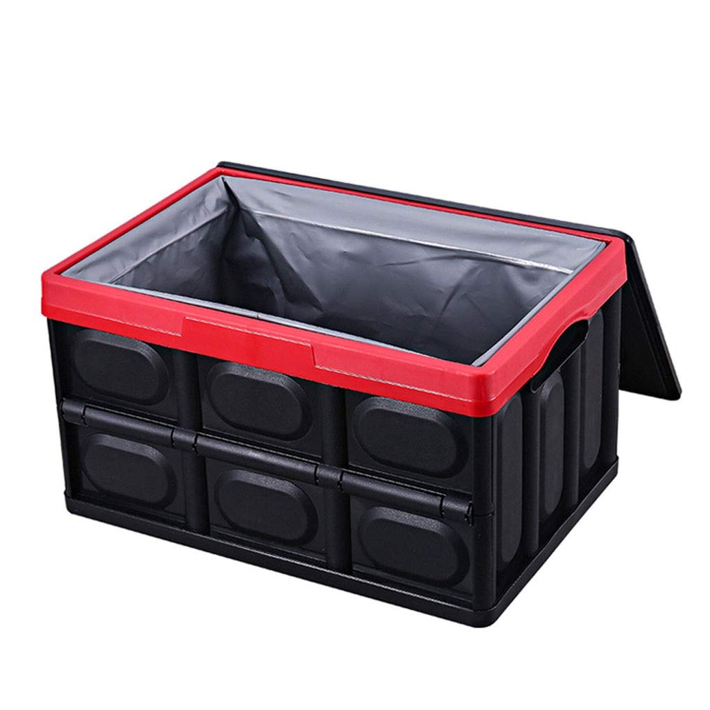 Black Large Foldable Car Trunk Storage Box Nordic Style PP Polypropylene Material Household Storage Box Makes Your Amazing Space Saving (color   Black, Size   L)