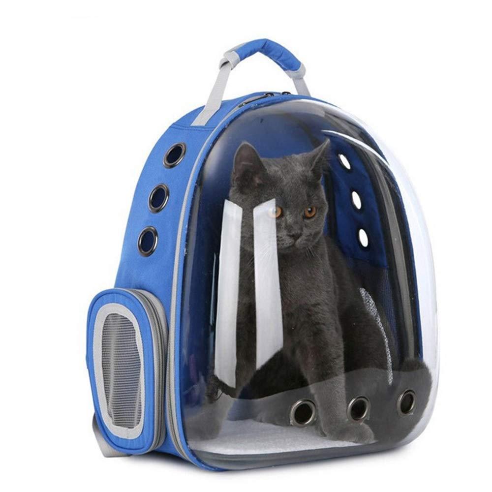 bluee 312842cm bluee 312842cm FELCIOO Space Capsule Pet Bag Breathable Cat Out Backpack Portable Transparent Pet Backpack (color   bluee, Size   31  28  42cm)