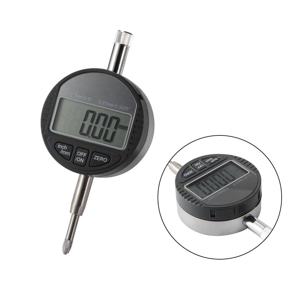 """0.01//0.0005/'/'Digital Dial Indicator 0-12.7mm//0.5/"""" Digital Probe Indicator Gauge"""