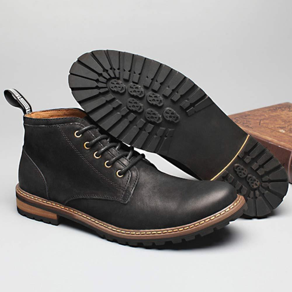 Yra Business Martin Stiefel Für Vintage Mens Echtes Leder Winter Vintage Für Schnürschuhe Booties Cowboy Stiefel Arbeit Formales Kleid Desert Boots Black f7d527