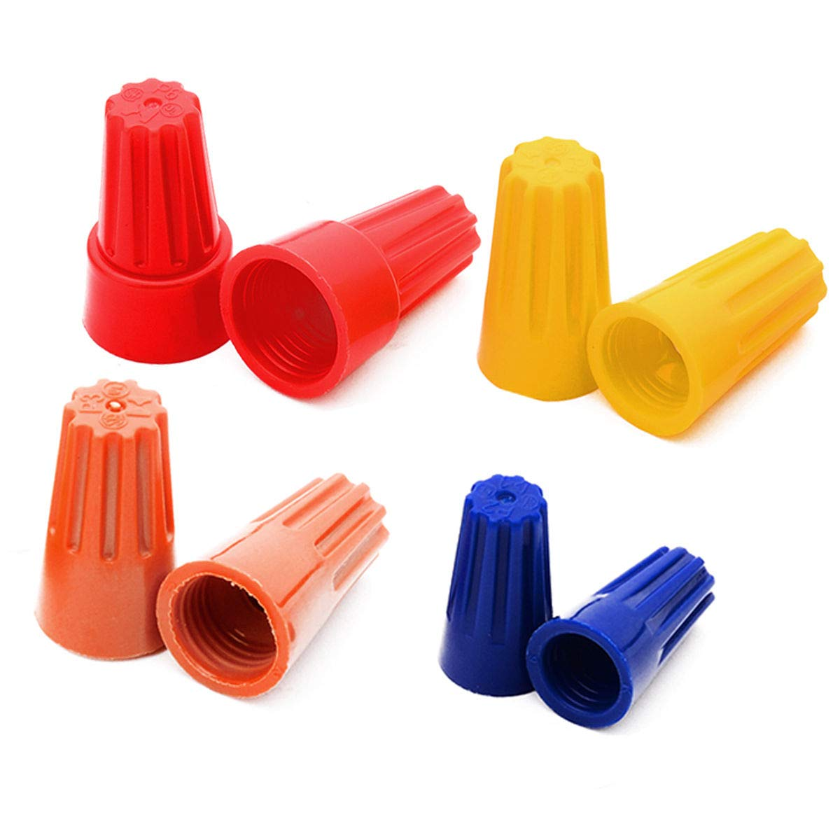Plastic Twist on Cable Nuts Connector P2 and Different Colors Thimble Wire