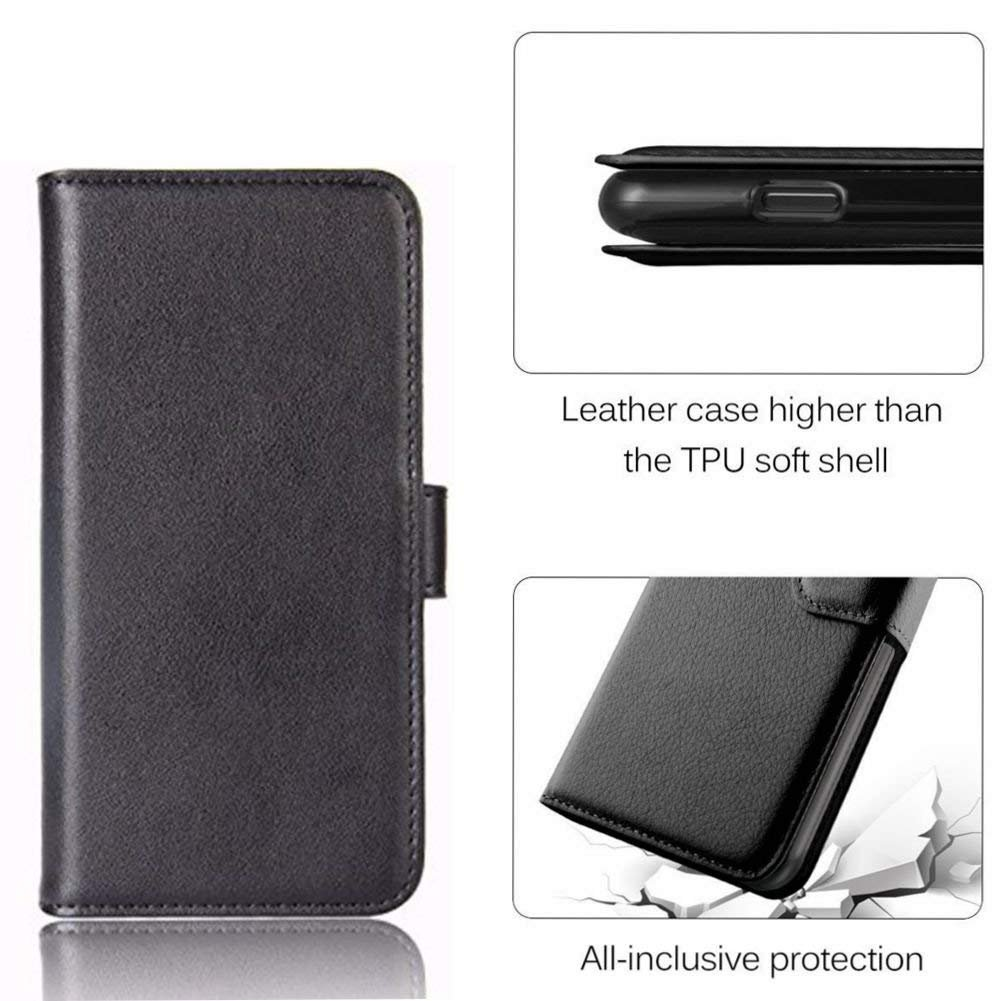 Samsung Galaxy S9 Plus Wallet Case, PRODELI Premium PU Leather Folio Flip Phone Case Cover Protective Wallet Pouch [Magnetic Clasp Closure] [ID Card & Cash Slot] [Folding Kickstand] (Black)