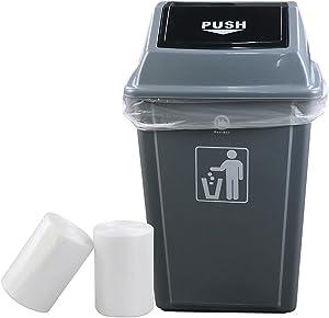 Idomy 18 Gallon Clear Trash Bag, Heavy Duty, 100 Counts