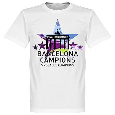 2015Barcelone étoile 5Sieger T-shirt–Blanc
