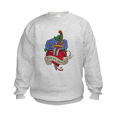 Truly Teague Kids Sweatshirt Never Again Broken Heart - Large (14-16)