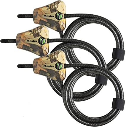 Cables /& Chains Master Lock Python Trail Camera Adjustable Camouflage Locks CAMO