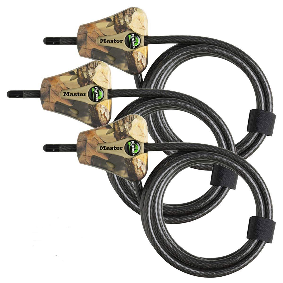 Master Lock – Python Adjustable Camouflage Cable Locks 8418KA CAMO 3-Pack