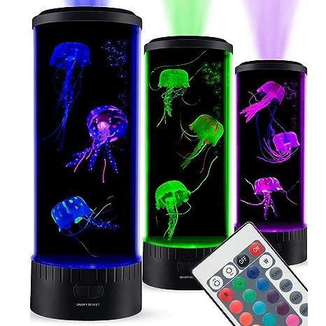BOCMD RegaloLámpara de medusa tanque Estado de ánimo luz acuario ...