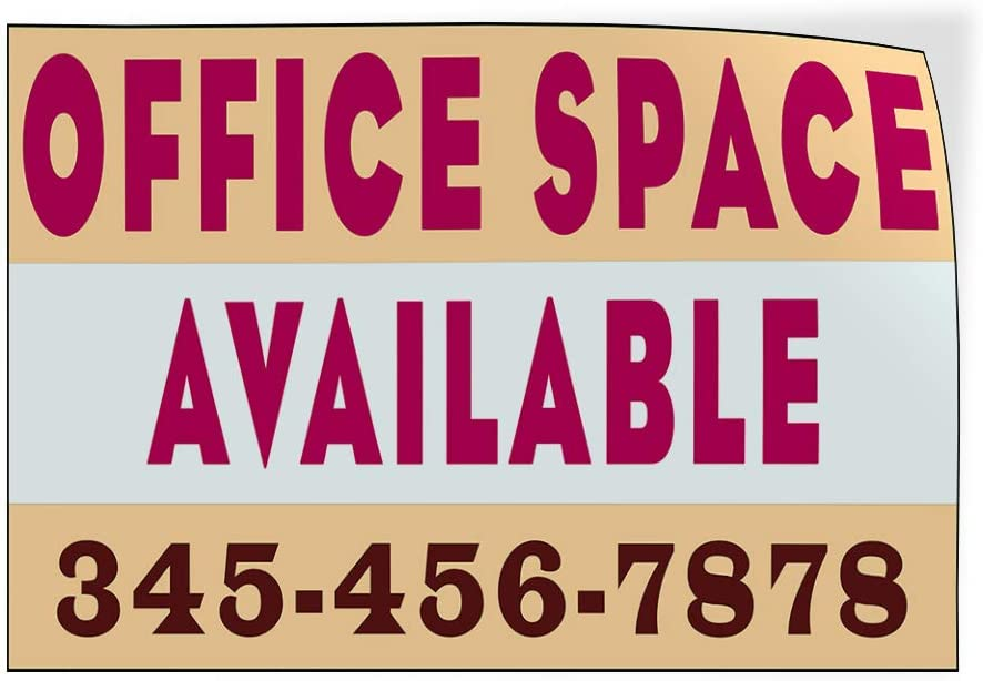 Custom Door Decals Vinyl Stickers Multiple Sizes Office Space Available Phone Number Business Office Space Available Outdoor Luggage /& Bumper Stickers for Cars Pink 72X48Inches Set of 2