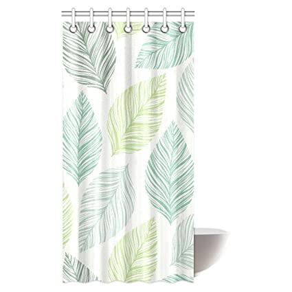Amazon.com: InterestPrint Leaves Decor Shower Curtain, Exotic ...
