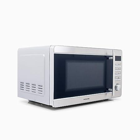 IKOHS Microondas MW700S Plateado - Microondas, 700W,Capacidad de 20L, 5 Niveles de Potencia, Temporizador hasta 30 minutos, Menú Automático, Cocción ...