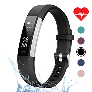 LETSCOM Fitness Tracker, Heart Rate Monitor, Pedometer Workout Tracker  Smart Watch, Sleep Monitor, Step Counter, Calorie Counter, Distance  Counter,