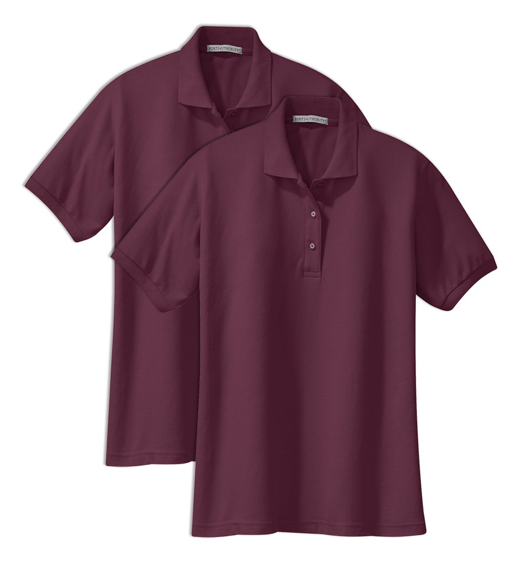 Port Authority L500 Ladies Silk Touch Polo 4XL Maroon (Pack of 2) by Port Authority