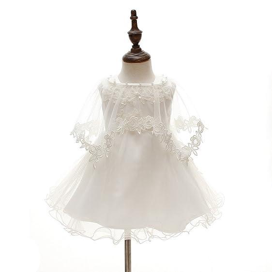 Amazon.com: 3Pcs Set Baby Girl Dress Christening Baptism Gowns ...
