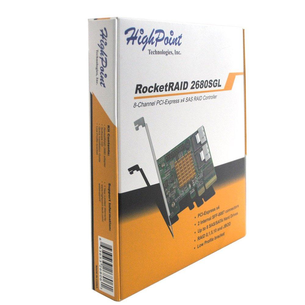 HighPoint RocketRAID 2680SGL 8-Channel PCI-Express x4 SAS 3Gb/s RAID Controller