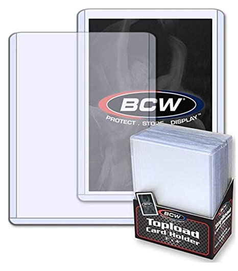 Bcw 3 X 4 Topload Card Holder 8 Pack Baseball Football Basketball Hockey Golf Single Sports Cards Top Load Sportcards Card Collecting