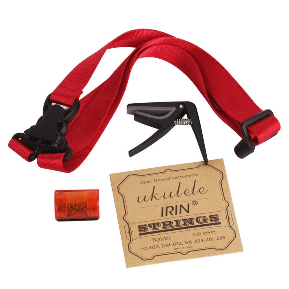 Dilwe Ukelele Accesorios Kit, Ukulele Cuerdas Bandolera Finger Shaker Capo 4 In 1 Combo Set Dilweosvbd15x6z