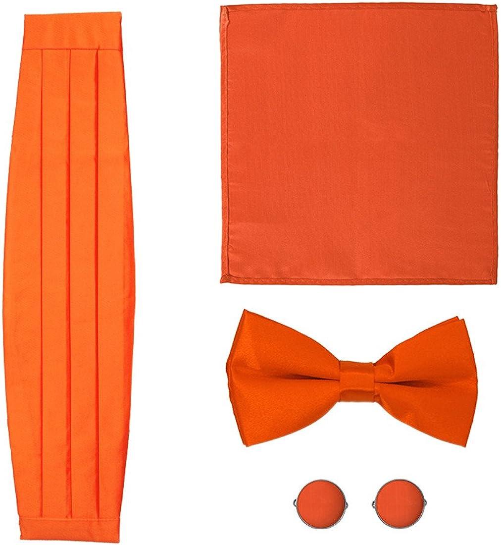 Epoint CM1012 Bow Naranja Rojo boda Tiespre atada-Hombres Hanky ...