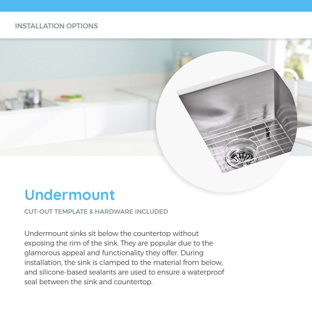 4521 Triple Bowl Stainless Steel Kitchen Sink, 16-Gauge, Sink Only by MR Direct (Image #8)