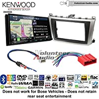 Volunteer Audio Kenwood Excelon DNX994S Double Din Radio Install Kit with GPS Navigation Apple CarPlay Android Auto Fits 2009-2013 Mazda 6