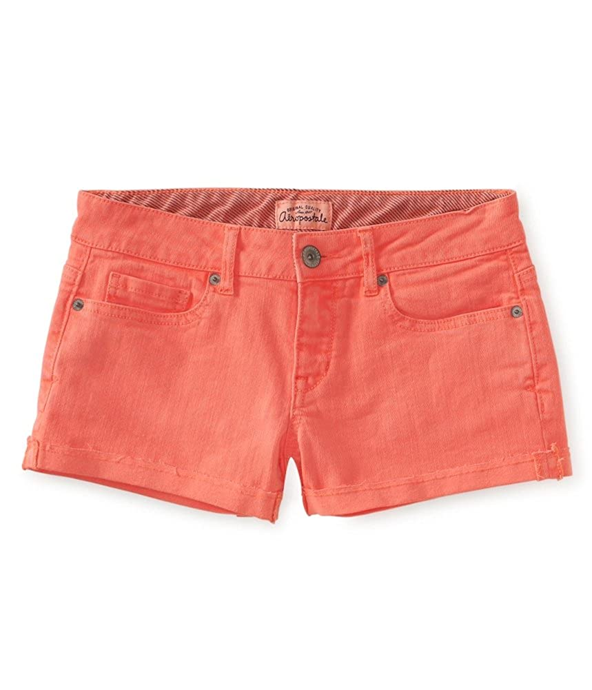 Aeropostale Womens Cut Off Shorty Casual Denim Shorts 0378