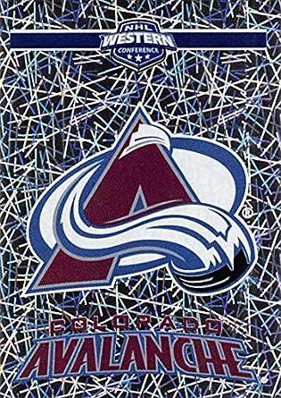 c76880f5 Amazon.com: 2018-19 Panini NHL Stickers #331 Colorado Avalanche Logo Foil Colorado  Avalanche NHL Hockey Trading Sticker Card: Collectibles & Fine Art