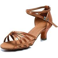 VASHCAME-Zapatos de Baile Latino de Tacón Alto/Medio