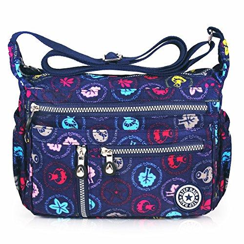 ABLE anti-splash water Shoulder Bag Casual Handbag Messenger bag Crossbody Bags (4-Cute mushrooms)