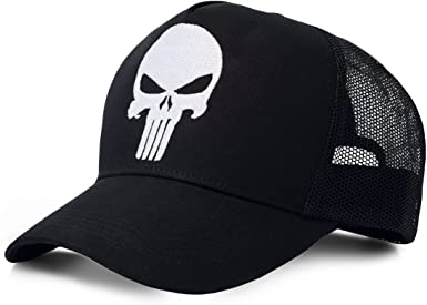 Marvel Punisher Gorra de béisbol, Negro (, Talla única Unisex ...