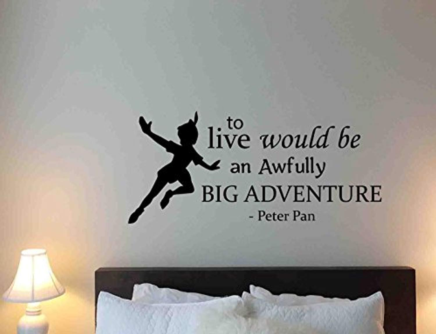 Amazon Peter Pan Wall Decal To Live Would Be An Awfully Big