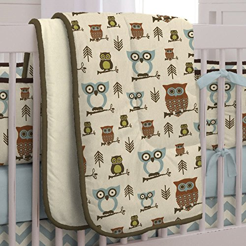 Carousel Designs Retro Owls Crib Comforter