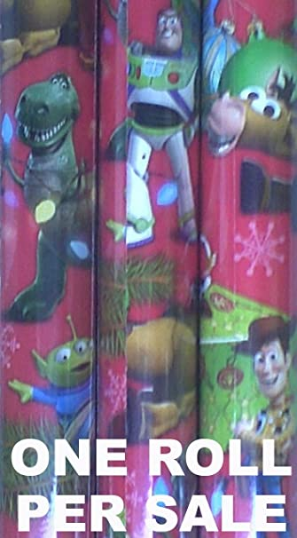 disney toy story christmas holiday gift wrapwrapping paper red