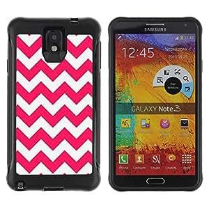 Suave TPU GEL Carcasa Funda Silicona Blando Estuche Caso de protección (para) Samsung Note 3 / CECELL Phone case / / Pink Lines Pattern White Summer /