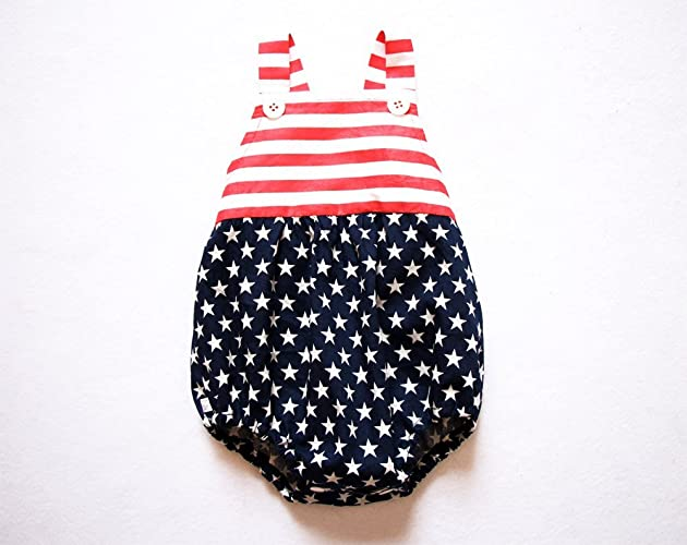 d5e62a3f067 Image Unavailable. Image not available for. Color  4th of July Baby Girl  Romper ...