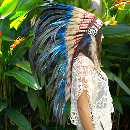 Long  (Halloween Indian Headdress)