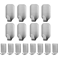 Adhesive Hooks 16 Pack, Fimate 3M Self Adhesive Durable Wall Hooks, No Nails Removable No Drilling Reusable Hanger Hooks…