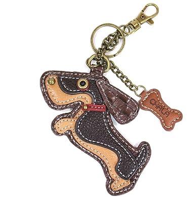 Amazon.com: Chala - Llavero de piel para perro, diseño de ...