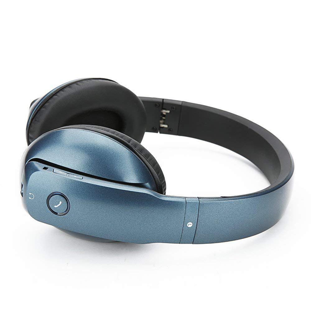 WhiteLabel Over Ear Bluetooth Headphones, Standard Style (WL557+Blue)