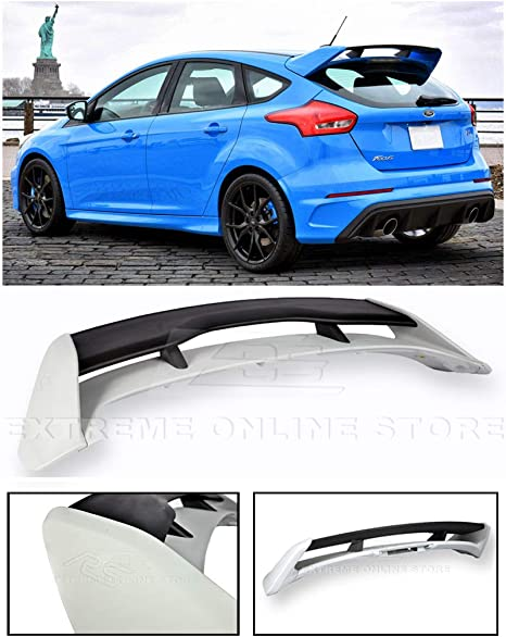 EOS RS Style ABS Plastic Primer Black Rear Roof Wing Spoiler Extreme Online Store for 2013-Present Ford Focus 5Dr Hatchback