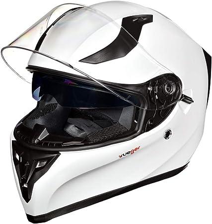 Motorradhelm Integralhelm Rueger Rt 826 Motorrad Roller Quad Helm Farbe White Größe L 59 60 Auto