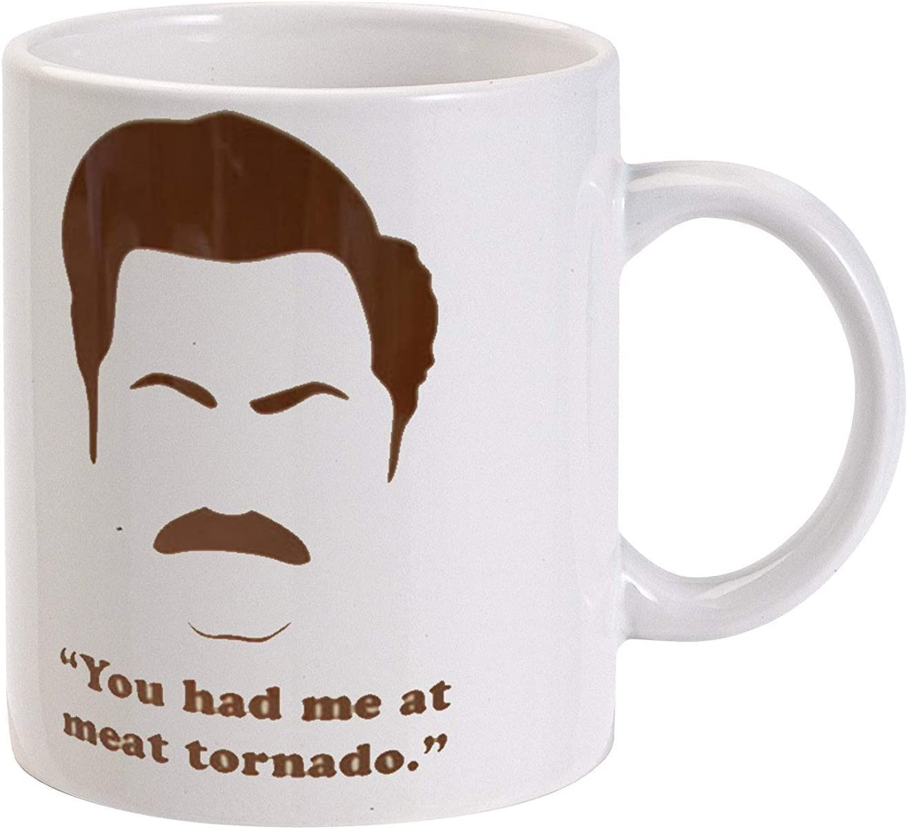 LUOBOGAN Ron Swanson You Had Me At Meat Tornado Coffee Mug ...