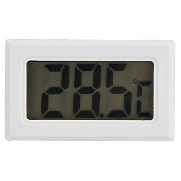 Zerone Termómetro LCD refrigerador, Higrómetro termómetro Digital para congelador y refrigerador con LCD, medición