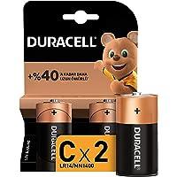 Duracell Alkalin C Piller, 2'li paket