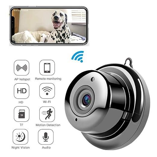 WAWZNN 1080P Cámara IP WiFi para Mascota, Mini Cámara de ...