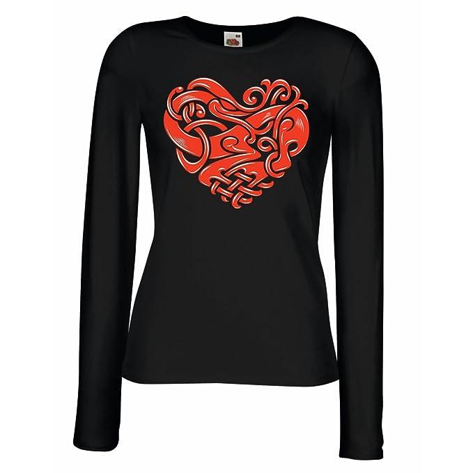lepni.me Camisetas de Manga Larga para Mujer Diseño del Tatuaje ...