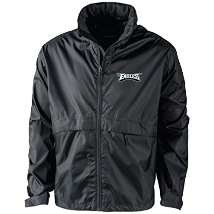 new styles de15d 8d043 Dunbrooke Apparel NFL Philadelphia Eagles Men's 5490Sportsman Waterproof  Windbreaker Jacket, Black, Medium
